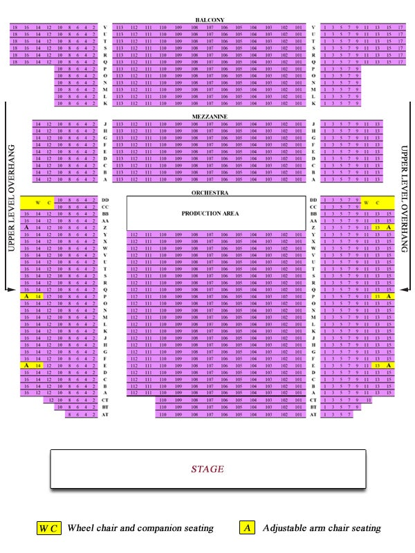 Seating Chart Bergen Performing Arts Center