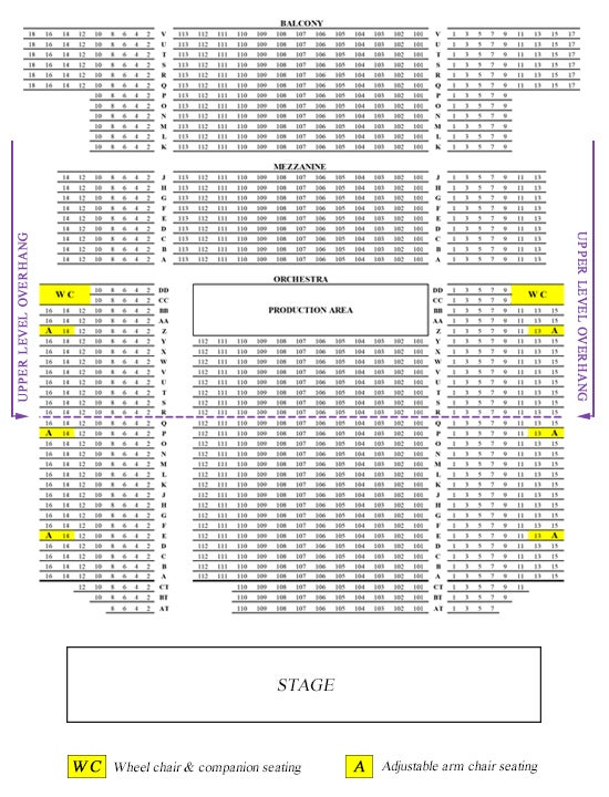 View Seating Chart